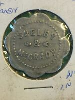 Vintage Token Shelby & McCrady Flower Shaped 5 Cent Coin Token T5