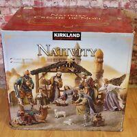 Kirkland Christmas Nativity Set Large Creche de Noel Costco Holiday, 19 Piece