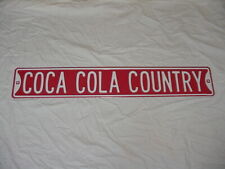 """36"""" Vintage Heavy Duty COCA COLA COUNTRY Metal Street Sign Red White Wall hanger"""