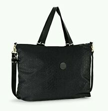 kipling xl travel tote duffle gym bag shopper 64cm weekend bag Black animal 32L