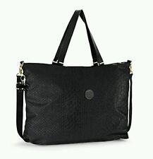 kipling xl travel tote duffle gym bag shopper 64cm weekend bag Black animal 32L
