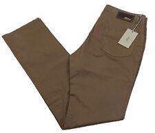 "Brioni Livigno Jeans Handmade in Italy BNWT Luxury Brown Size 33"" £395 Ltd Ed"