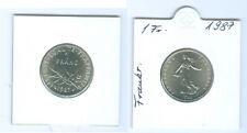 Francia 1 Franco 1987 fior di conio KMS Solo 91.216 Pezzo