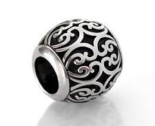 Silver Filigree European Beads Fit European Charm Bracelets