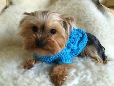XSMALL PET CABLE KNIT JUMPER IN TOURQUIOSE