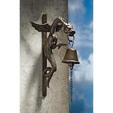 Renaissance Dragon Cast Iron Bell Medieval Dragon Sculpture Door Bell