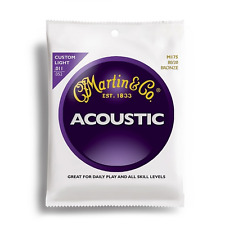 Nouveau Martin M175 acoustic guitare strings 80/20 bronze custom light .011 - .052