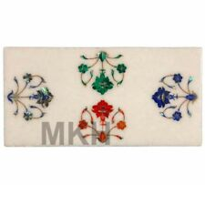 Marble inlay serving cheese platter wall tile pietra dura Vintage Chopping Board