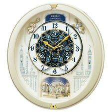 SEIKO CLOCK Wall Clock Radio Wave Analog 53 Song Melody RE579S Fast Shipping
