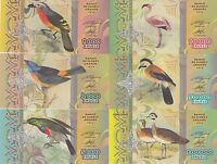 UNC private issue Artists Bougainville Set 4 banknote 2016 2st edition