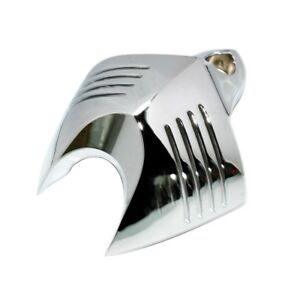 Chrome Twin Cowbell V-Shield Horn Cover for Harley Softail Dyna Electra