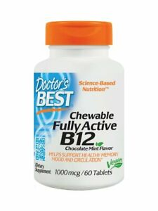 ** 3 PACK ** Doctor's Best, Quick Melt Fully Active B12, 1000 mcg, 60 tabs
