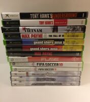 X Box Game Disc Lot 13 Games. Most Complete. Most Play Fine. They Have Scratches
