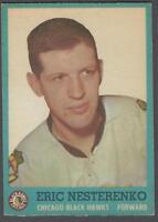 1962-63 Topps Chicago Blackhawks Hockey Card #41 Eric Nesterenko