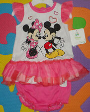 :-)**DISNEY BABY MICKEY & MINNIE MOUSE TULLE DRESS & DIAPER COVER**(-: SIZE 3-6M