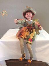 "Vintage 22"" Butterfly Fairy, Pixie, Garden Troll with Wings Shelf Sitter -RARE T"