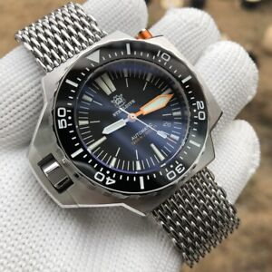 STEELDIVE SD1969 ProPlof Automatic 1200m Diver Watch *SHARKMESH* *UK SELLER*