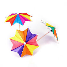 Approx. 145Pcs of Eight-Square Paper Cocktail Drink Sticks Parasol Umbrella A6T7