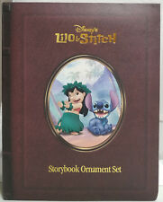 """Disney """"Lilo And Stitch"""" Storybook Christmas Ornament Set Holiday **NEW**"""