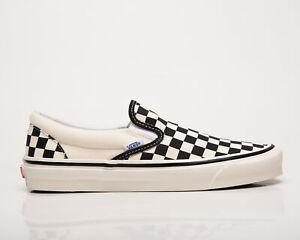 Vans Classic Slip-On 98 Anaheim Factory Men's Black White Shoe Lifestyle Sneaker