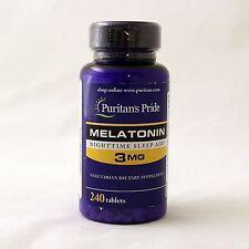 Puritan's Pride Melatonin 3 mg 240 tablets sleep aid dietary supplement 2 x 120