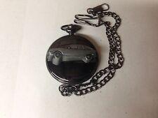 Citroen GS ref48 emblem polished black case mens pocket watch