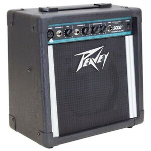 """Peavey Solo Battery Powered 15W 2-Channel 8"""" Amp Speaker Vocal + Guitar Combo"""