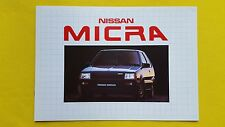 Nissan Micra DX GL Auto 1.0 brochure car sales catalogue May 1983 MINT
