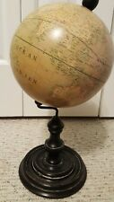 Vintage Art Deco Terrestrial World Globe w/ Stand -Globe Terrestre Paris France