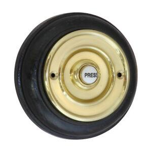 Bell Push Press - BRASS + 108mm Plinth Diameter  Surface Mounted