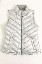 Gap Women's Silver Metallic Puffer Fall / Winter Warmest  Vest Size S - New