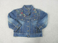 Ralph Lauren Jacket Girls Large Blue Red Buttons Denim Jean Coat Youth Kids