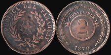 Monnaie Paraguay 2 centesimos 1870 cuivre attention voilée   (mc10153)