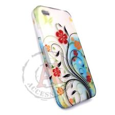 Flowery Design HARD Protector Case Snap On Phone Cover for Apple iPhone 4 4S