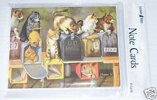 8 Leanin Tree Note Cards Lots of CATS Sitting On and In Mailboxes Cat Made USA