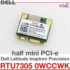 Wi-Fi WLAN WIRELESS CARD NETZWERKKARTE DELL MINI PCI-E RTU7305-BG13 0WCCWK D25