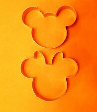 """3.5"""" Mickey Minnie Mouse fondant Baking Biscuit Cookie Cutter mold set"""