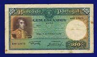 Portugal Banknotes 100 ESCUDOS 1935 PIC150A  FINE ABN13873