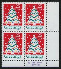 #2515 25c Christmas: Greetings, Zip Block [LR], **ANY 4=FREE SHIPPING**
