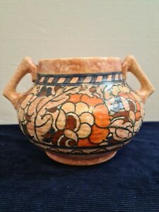 Art Deco Crown Ducal Charlotte Rhead signed 'Byzantine' Pottery Two handle Jug