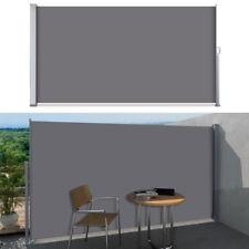 Seitenmarkise Markise Rollo Sichtschutz Seitenrollo Balkon Terrasse Grau 200x300