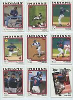 2004 TOPPS & TOPPS TRADED CLEVELAND INDIANS TEAM SET W/PROSPECTS (30 Cards)