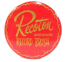 RECOTON ANTI-STATIC advertising celluloid record cleaner brush ^