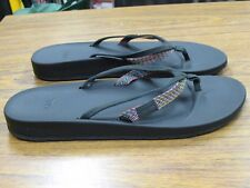TEVA Azure Women's 2 Strap Multi-color Black Flip Flops Sandals Size 9M NEW NIB