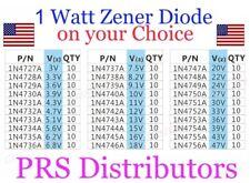 1W Zener Diode 3V to 47V 1N4727A to 1N4756A 1 Watt 10 Pcs USA SELLER