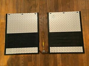 Dually duel Dual Wheel Rear Wheel Mud Flaps guards- Diamond (or Stainless Steel)