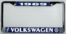 1969 Volkswagen VW Bubblehead Vintage California License Plate Frame BUG BUS T-3