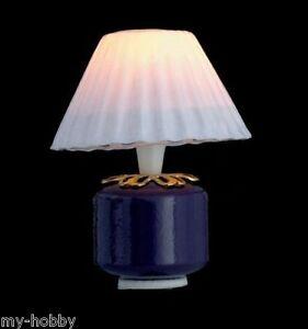 Purple Base Lamp Dollhouse Furniture - 12 Volt - Town Square Miniatures #T8542
