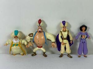 Vintage Aladdin 1993 Mattel Disney Action Figures Lot of 4 Set Genie Jasmin Sult
