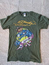 Ed Hardy by Christian Audigier T-Shirt Green Jewelled Dragon